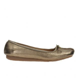 Clarks Womens Freckle Ice Bronze Leather Shoes